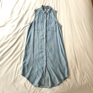 Forever 21 Chambray Button Down Shift Dress